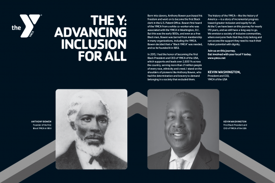 THE Y ADVANCING INCLUSION FOR ALL TIME AD